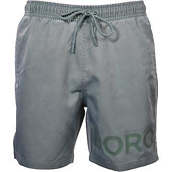 Bjorn Borg Tonal Logo Swim Shorts, Khaki Green