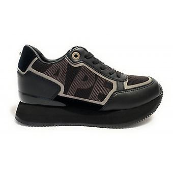 Spor ayakkabı Apepazza Mod çalışan. Raina Kama Deri Alt / Kadın Siyah Kumaş D21ap06