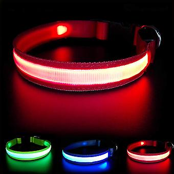 Masbrill led dog collar with rechargeable waterproof, glowing dog collars high visibility for pet wof66569