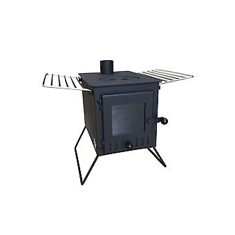 New outbacker® vista -large window 'firebox' tent stove