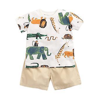 Cute Infants Vaatesarjat Puuvilla Lyhythihaiset Vauvan puserot / Shortsit 2kpl