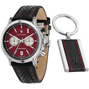 Maserati R8871638002 Men's Epoca Legend Limited Edition Black Strap Montre-bracelet