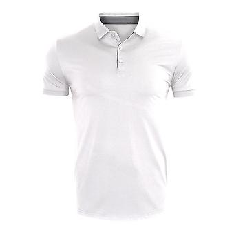 YANGFAN גברים פולו חולצת טריקו שרוול קצר מזדמנים דק בכושר אופנה העליון