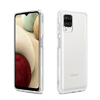 Samsung A12 Hoesje Transparant Wit - CoolSkin3T