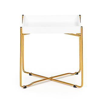 Nachtkastje met metalen gouden poten - 38x34x34 cm