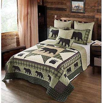 Spura Home Pictorial Bear Star Contemporary Twin/FullQueen/King Quilt Set