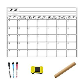 A3 Magnetic Monthly Planner Whiteboard Calendar Fridge Drawing Refrigerator