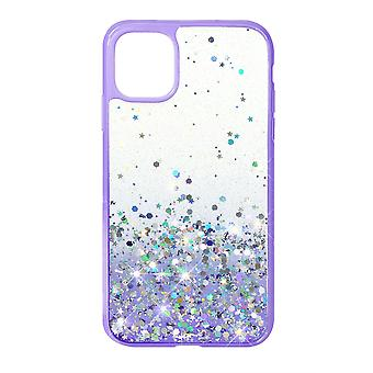 Phone Case (Purple) Glitter ShockProof Soft TPU Silicone For iPhone XR