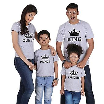 Family Matching Outfits Look Father Mother Crown T-shirt