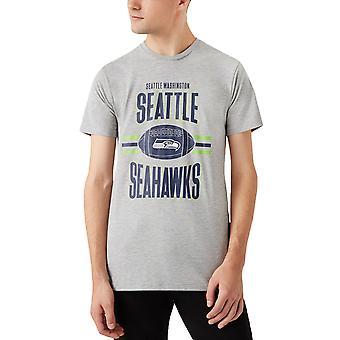 New Era Miesten Seattle Seahawks Jalkapallo Crew Neck T-paita T-paita T-paita - Harmaa