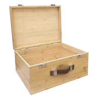 Gran caja de almacenamiento de bambú