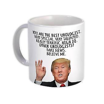 ספל מתנה: אורולוג מצחיק טראמפ הטוב ביותר