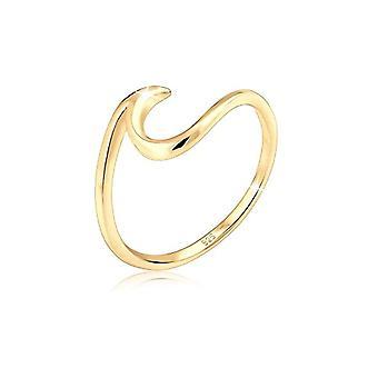 Naisten rengas Elli, hopea 925, kullattu, koko 56
