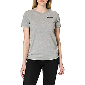 Champion Legacy Classic Small Logo T-Shirt, Light Melange Grey, Large Woman