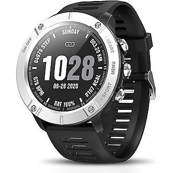 Smartwatch Men Smartwatch Women Smart Bracelet Sport Watch Waterproof Wrist IP68 Pedometer Fitness Tracker Smart Watch Heart Rate Monitor Wrist Watch for Android iOS(Silver)