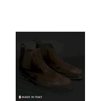 Duca di Morrone - Shoes - Ankle boots - 400-CAMOSCIO-MARRONE - Men - saddlebrown - EU 40