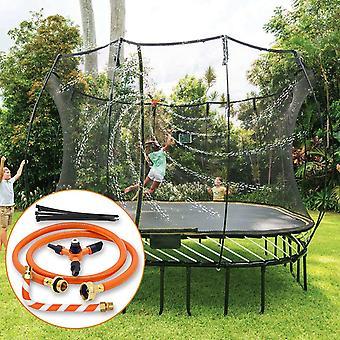 Trampolin Wassersprinkler Trampolin Spray Wasserpark Garten Sprinkler Sommer-Wasserparkspiel im