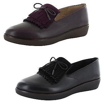 Fitflop Mujer Tessa Flecos Slip En Loafer Zapatos