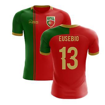 2020-2021 Portugália Flag Home Concept Futballmez (Eusebio 13) - Gyerekek