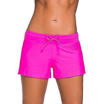 S red women swimsuit shorts tankini swim briefs plus size bottom boardshort summer swimwear beach trunks for girls x4883