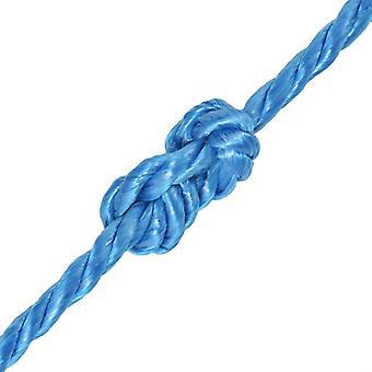 vidaXL Polypropyleen touw 8 mm 200 m Blauw