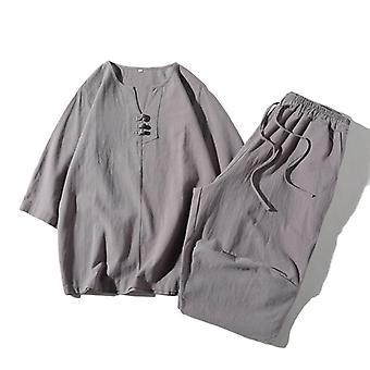 Sleeve Tang Suit Hanfu Men Top+pant