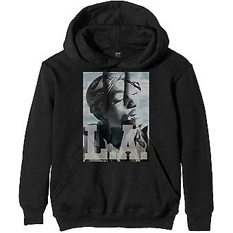 Tupac - LA Skyline Men's Large Pullover Hoodie - Preto