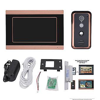7-дюймовый проводной Wi-Fi видеодомофон / колокольчик домофон входная система