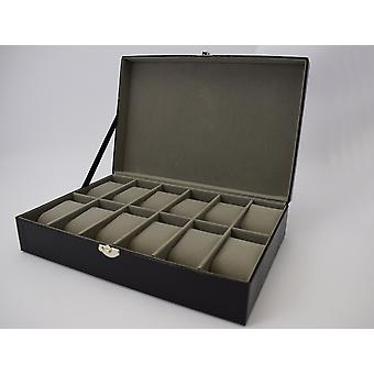 Harvey Makin Lizard Vinyl Watch Box Holds 12 Watches