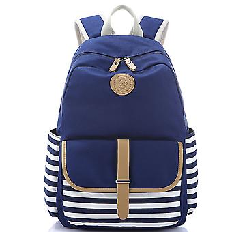 Korean style ins women's backpack, canvas casual student bag