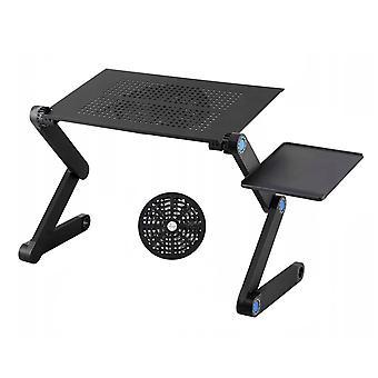 Laptopstandaard verstelbaar met koeler + muisplank – 26 x 48 cm
