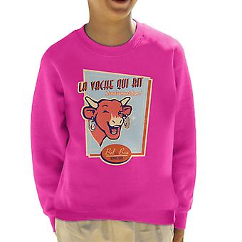 The Laughing Cow For Cheese Lovers Kid's Sweatshirt