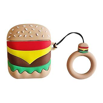 Cute Burger Cartoon Mini Bag With Finger Loop For Airpods 1&2 Cover