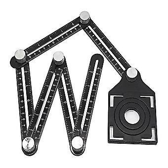 Aluminiumlegierung Sechsseitig Lineal, Winkel-Messgerät-Werkzeug