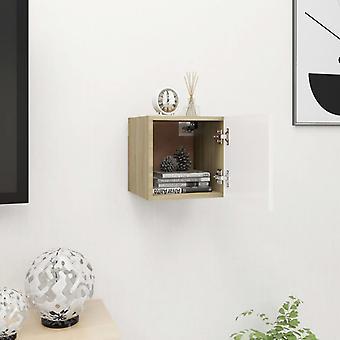 vidaXL TV armoire de télévision blanc chêne Sonoma 30,5x30x30 cm