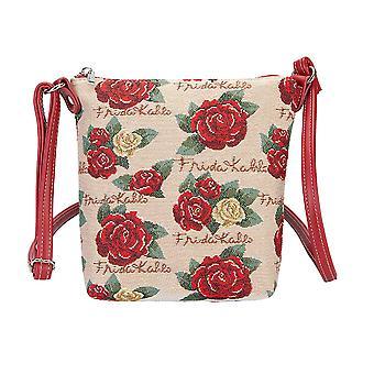 Frida kahlo rose sling bag | blue cross body bag | sling-fkrose
