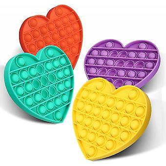 Heart Push Pop Bubble Sensory Fidget Toy