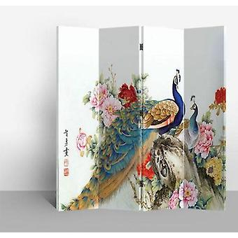 Fine Asianliving Chinese Oriental Room Divider Folding Privacy Screen 4 Panneaux W160xH180cm Deux Paons