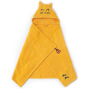 Milk&Moo Tombish Cat Baby Bath Towel, 100% Cotton Baby Hooded Towel, Ultra Soft and Absorbent Baby Towel for Newborns, Infants and Toddlers, One Size, Orange Color