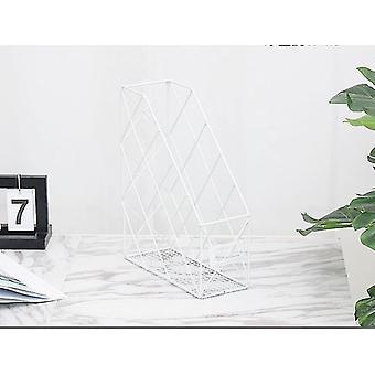 مجلة رفوف مكتب ملف المنزل رف معدني رف الحديد المطاوع رف تخزين سطح المكتب