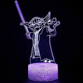 Star Wars 3D LED nachtlampje lamp met afstandsbediening geschenken speelgoed decor 16 kleur