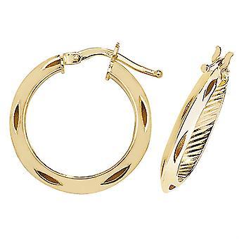 HS Johnson HSJ-ER051 Women's 9ct Gold Hoop Earrings