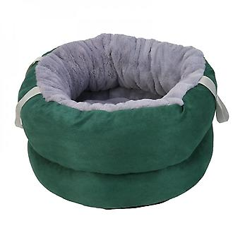 Portable Soft Dog Bed Kennel Multifunction Round Cat Cushion House Improved Sleep Pet Sleeping Accessories