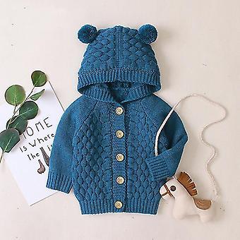 Syksyn vauvan hupullinen neuletakki vauvanvaatteille - Vastasyntynyt takki vauvalle