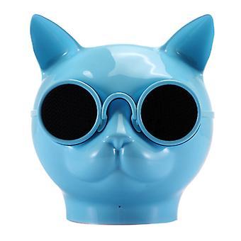 Alto-falante bluetooth sem fio Cattou, alto-falante bluetooth mini cattou suporta A2DP(Azul)