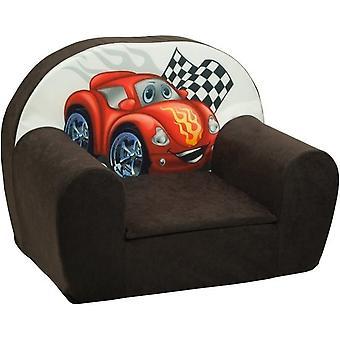 Luxe kinderstoel - kinderfauteuil - sofa - 60 x 45 - bruin - cars