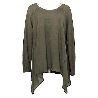 WynneLayers By MarlaWynne Women's Sweater Plus Handkerchief Green 682658