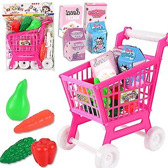 Shopping Cart With Fruits And Vegetables-pretend To Play Kids Educational