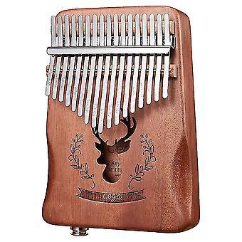 Kalimba thumb piano 17 keys electric box eq portable musical instrument for performance