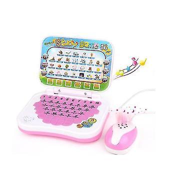 לוח ילדים, לוח למידה באנגלית לילדים, צעצוע חינוכי עם בחירה נהדרת(ורוד)